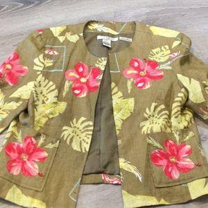 STUDIO JPR~~LOVELY Open Front Jacket~~Linen
